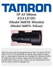 SP AF 300mm F/2.8 LD (IF) - Tamron