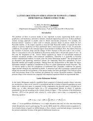 lattice boltzmann simulation of flows in a three dimensional ... - ICHMT