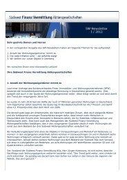 Newsletter 2012_01 - Südwest Finanz Vermittlung ...