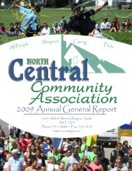 2008-2009 Annual Report - North Central Community Association ...