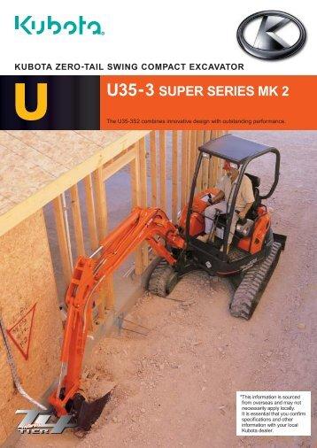 U35-3S Zero Tail Swing Excavator - LiveUpdater