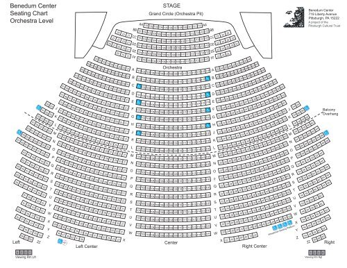 Benedum Center Seating Chart The Pittsburgh Cultural Trust
