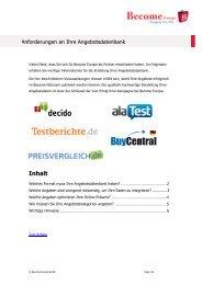 Richtlinien für die Shop Integration - Become Europe GmbH