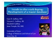 Trends in elite track doping - Play the Game