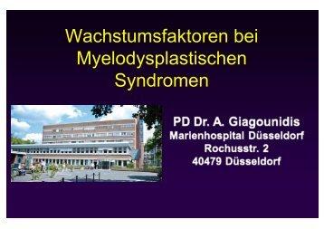 Wachstumsfaktoren bei Myelodysplastischen Syndromen