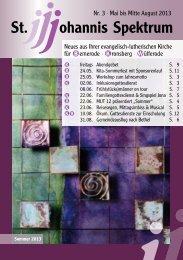 Heft Mitte Mai - Anfang August 2013 - St. Johannis Bemerode