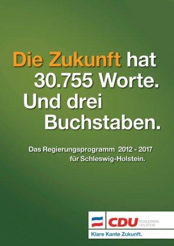 Wahlprogramm der CDU Schleswig-Holstein 2012