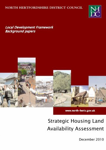 Strategic Housing Land Availability Assessment Update December ...