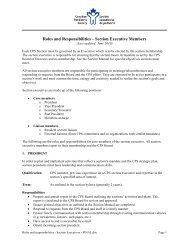 Section Executive Job Descriptions