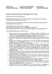 18.11.10 Anfrage Umsetzung Haushalt 2010 - SPD Siegen