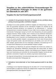 Vorgaben Abitur 2011 - Gesamtschule Eiserfeld