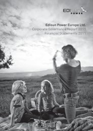 Edisun Power Europe Ltd. Corporate ... - Edisun Power Europe AG