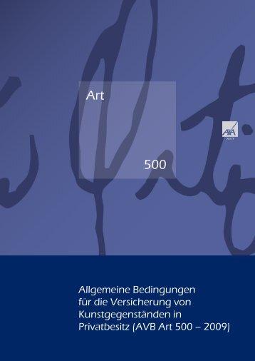 Art 500 Allgmeine Versicherungsbedingungen | 1.25 MB - AXA Art