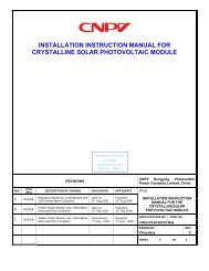 installation instruction manual for crystalline solar photovoltaic module