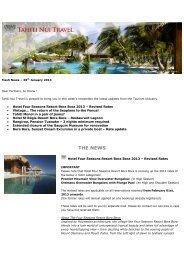 Newsletter – 29jan13 – Four Seasons, Seaplane ... - Tahiti Nui Travel
