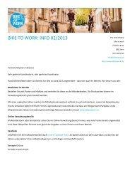 Infomail 3: Koordinierende Februar 2013 - Bike to work