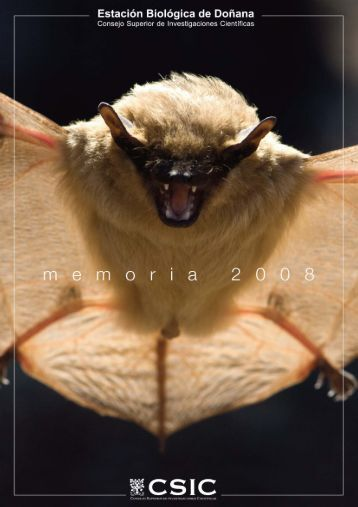 Memoria 2008 - Estación Biológica de Doñana - Consejo Superior ...