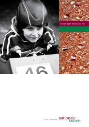 Interim report 1st half-year 2011 - Nationale Suisse Group