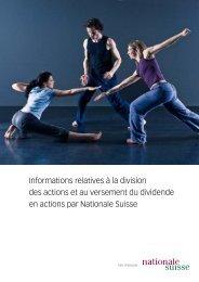 Informations relatives à la division des actions et au versement du ...