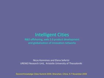 Intelligent Cities-Shenzhen 2009-Komninos-Sefertzi - Urenio
