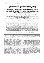 S. laumondi and S. lyoni - Russian Journal of Nematology