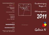 Faltblatt 2011 - Kunstvereinigung Wasgau e.V.