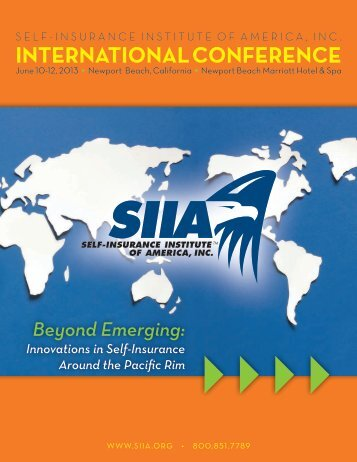 Conference Brochure - Self-Insurance Institute of America, Inc.