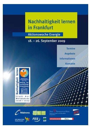 MainKlima - Nachhaltigkeit lernen in Frankfurt