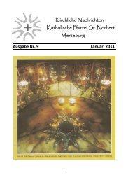 Ausgabe Nr. 9, Januar 2011 ( PDF -Datei, 389 kB) - Katholische ...