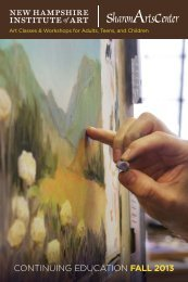 Fall 2013 Course Catalog - New Hampshire Institute of Art