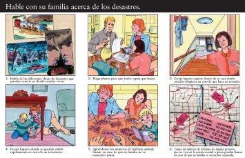 Hable con su familia acerca de los desastres.