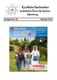 Ausgabe Nr. 29, Oktober 2012 ( PDF -Datei, 577 kB) - Katholische ...