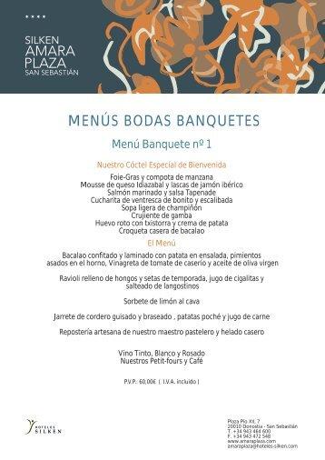 Menús Bodas (pdf) - Hoteles Silken
