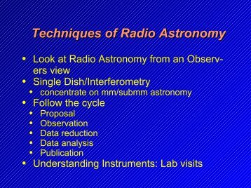 Techniques of Radio Astronomy - Mpifr-bonn.mpg.de