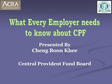 What every employer needs to know about CPF - ACRA