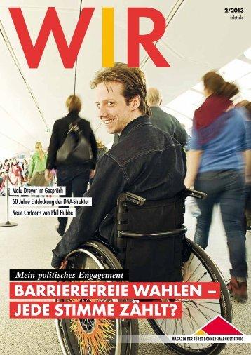 zum download der WIR 2/2013 - Fürst Donnersmarck Stiftung