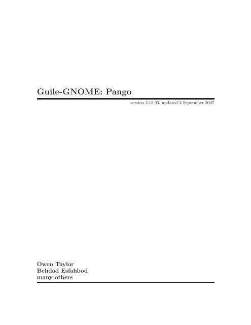 Guile-GNOME: Pango - wingolog