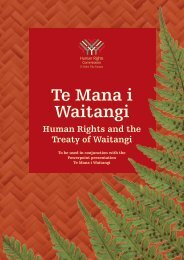 Te Mana i Waitangi - Human Rights Commission