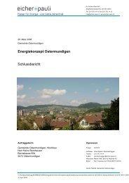 Energiekonzept Ostermundigen Schlussbericht - Gemeinde ...