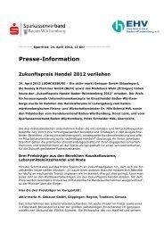 Presse-Information Zukunftspreis Handel 2012 verliehen ...