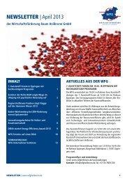 NEWSLETTER | April 2013 - Wirtschaftsförderung Raum Heilbronn ...