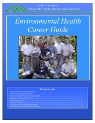 Environmental Health Career Guide - Riverside County Department ...