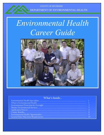 Environmental Health Career Guide - Riverside County Department ...