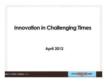 Innovation in Challenging Times