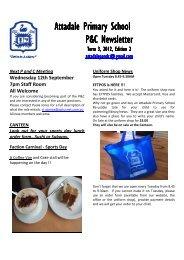 Attadale Primary School Attadale Primary School P&C Newsletter ...