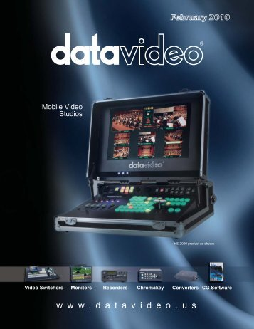 MS0900 eight0channel SD mobile studio - Datavideo