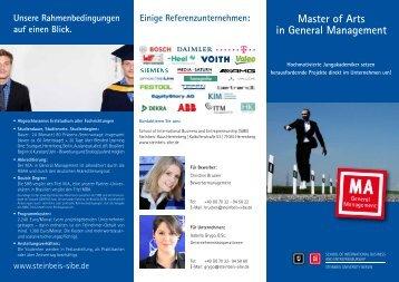 Flyer - M.A. in General Management - School of International ...