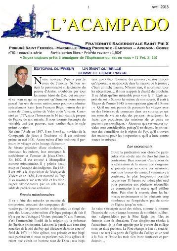 L'Acampado n° 81 - Un Saint qui brille comme le ... - La Porte Latine