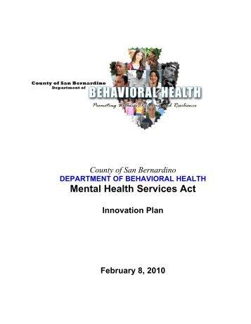 San Bernardino County - Mental Health Services Oversight and ...
