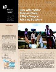 Rural Water Sector Reform in Ghana: A Major Change in ... - WSP